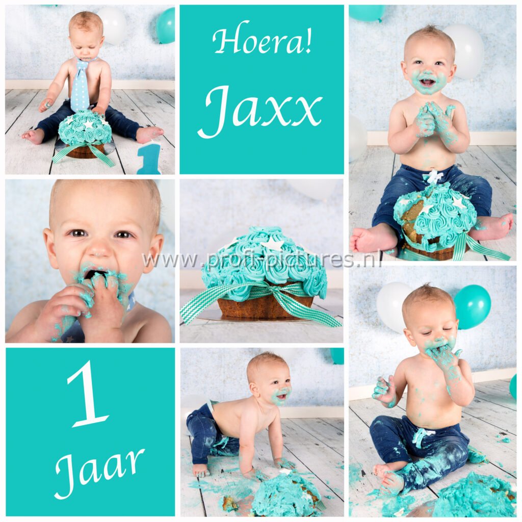 Jaxx collage cake smash